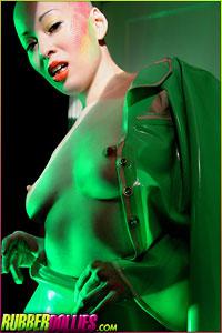Kumi in green on RubberDollies.com