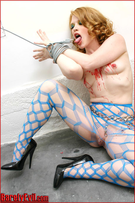 barelyevil madison young bound bondage wax