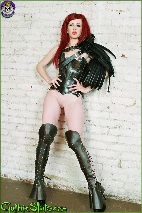 gothicsluts crash feather epaulet